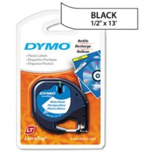 Fita DYMO 91331 (Preto/Branco c/ 12mm x 4mts)
