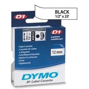 Fita DYMO 45013 (Preto/Branco c/ 12mm x 7mts)