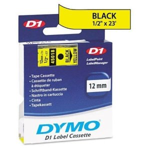 Fita DYMO 45018 (Preto/Amarelo c/ 12mm x 7mts)