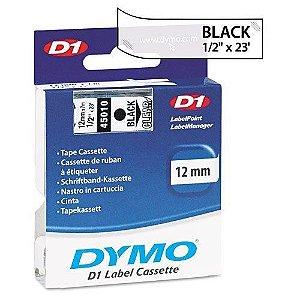 Fita DYMO 45010 (Preto/Transparente c/ 12mm x 7mts)