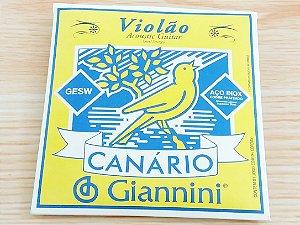 Encordoamento Para Violao Aço Giannini Canario Gesw