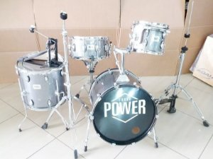 Bateria Turbo Power 2018 Completa Prata Sparkle