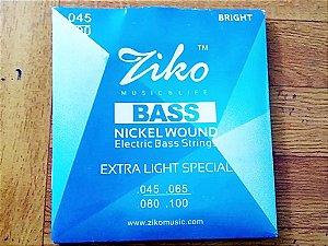Encordoamento De Baixo Ziko Nickel 4 Cordas 045