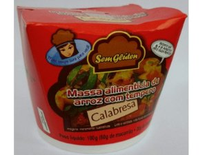 Massa Instantânea Sem Glúten Alimentos sabor Calabresa 100g