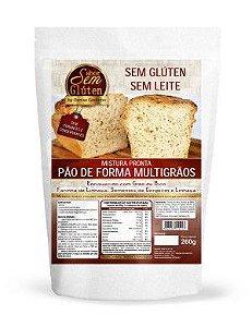 Mistura para Pão de Forma Multigrãos Sabor Sem Glúten 250g