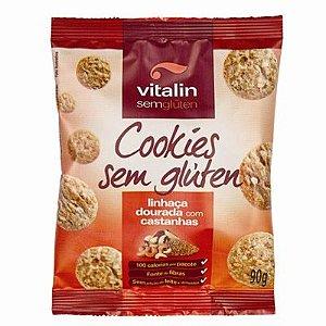 Cookie de Linhaça Dourada c/ Castanhas Vitalin 90g