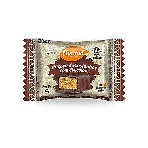 Paçoca de Castanha c/ Chocolate Zero Açúcar Flormel 22g