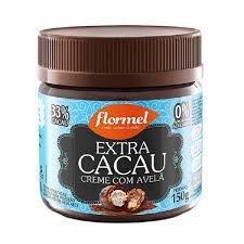 Creme de Avelã c/ Cacau 33%  Zero Açúcar Flormel 150g