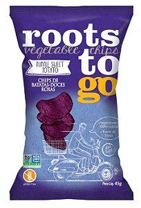 Chips de Batata Doce Roxa Sem Glúten Roots to Go 45g