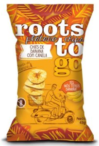 Chips de Banana c/ Canela Sem Glúten Roots to Go 45g
