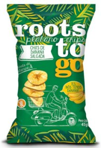 Chips de Banana Salgada Sem Glúten Roots to Go 45g