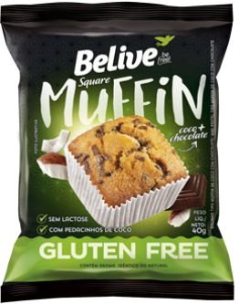 Muffin Sabor Coco c/ Chocolate Belive 40g (Validade: 21/10/2017)