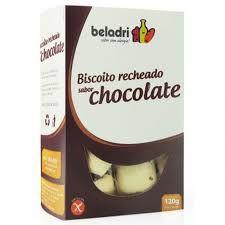 Biscoito Recheado Sem Glúten sabor Chocolate Beladri 120g