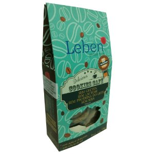 Cookies com Café Descafeinado Sem Glúten Leben 100g (Validade: 15/10/2017)
