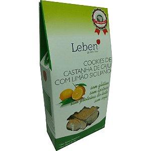 Cookies de Castanha de Caju com Limão Siciliano Sem Glúten Leben 100g (Validade: 15/10/17)