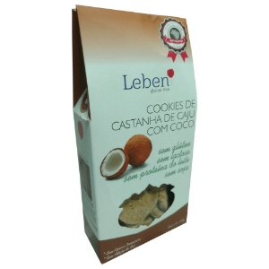 Cookies de Castanha de Caju com Coco Sem Glúten Leben 100g