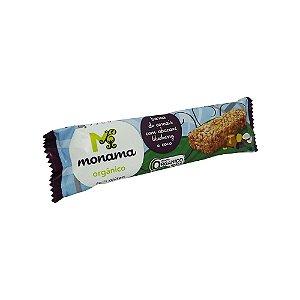 Barra de Cereal Orgânico Abacaxi, Blueberry e Coco Monama 25g
