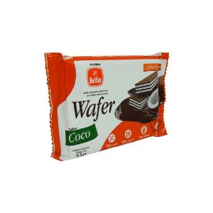Wafer Sem Glúten Sabor Coco Belfar 55g
