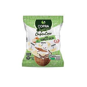 Chips de Coco Orgânico sabor Cebola e Salsa Sem Glúten Copra 20g