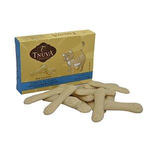 Chocolate Branco Sem Leite Língua de Gato Tnuva 100g