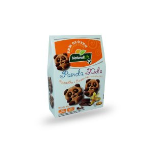 Biscoito Panda Kids Baunilha e Cacau Sem Glúten Natural Life 100g
