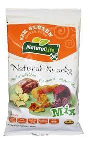 Snack Sem Glúten de Batata Doce, Cenoura e Beterraba Natural Life 45g