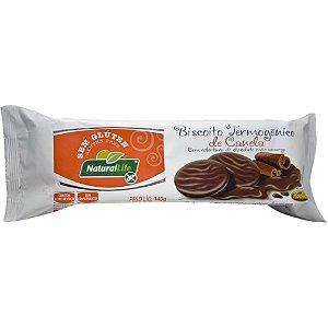 Biscoito Termogênico com Cobertura de Chocolate Meio Amargo Sabor Canela Natural Life 140g