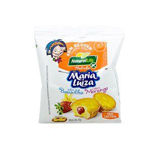 Bolinho Maria Luiza sabor Baunilha com Morango Sem Glúten Natural Life 35G