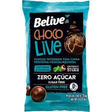 Choco Live Cha Verde e Guaraná Sem Glúten e Sem Açúcar Belive 35g