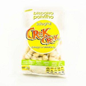 Biscoito Polvilho Crek Crek Integral Linhaça e Amaranto 50g