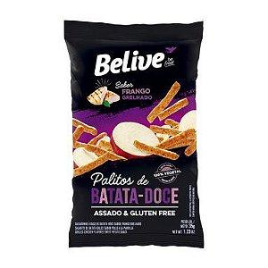 Snack Belive  Sem Glúten Palitos de Batata- Doce de Frango Grelhado 35G