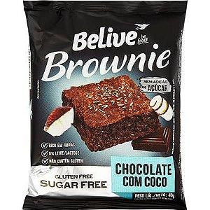 Brownie Sem Glúten de Chocolate com Coco Zero Açúcar Belive 40g