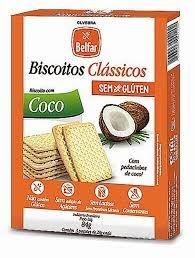 Biscoito Clássico de Coco Sem Glúten Belfar 84g (Validade 25/07/2018)