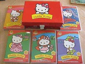 COLEÇÃO HELLO KITTY BOX COM 5 DVDS