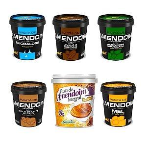Kit Degustação com 6 Pastas de Amendoim - Mandubim