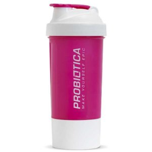 Coqueteleira com compartimento Rosa - Probiotica