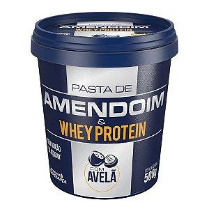 Pasta de Amendoim Com Whey Protein e Avelã (450g) - Mandubim