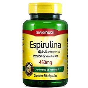 Espirulina 450mg (60caps) - Maxinutri