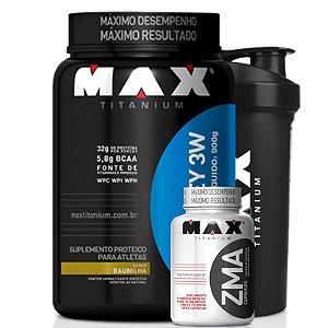 Top Whey 3W (900g) - Max Titanium [ GRATIS ZMA + SHAKER]