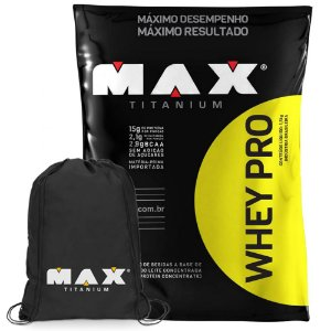 Whey Pro (1500g) - Max Titanium [GRATIS MOCHILA]