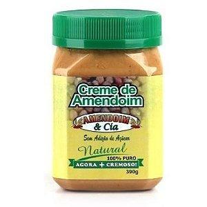Creme de Amendoim Natural (390g) - Amendoin & Cia