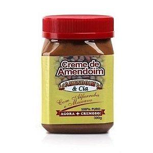 Creme de Amendoim com Alfarroba & Mascavo (390g) - Amendoin & Cia