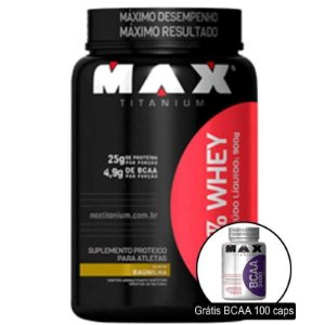 100% Whey Protein (900g) - Max Titanium [GRATIS BCAA]
