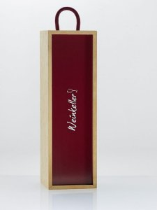 Caixa de madeira para uma garrafa