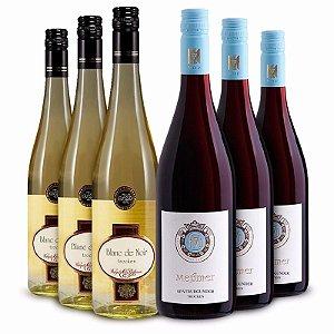 Pinot Noir branco e tinto - 6 garrafas