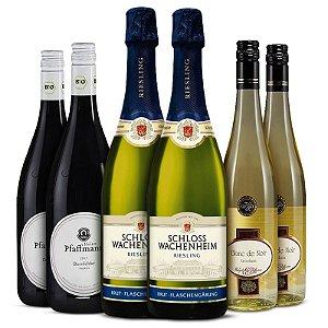 Kit 6 garrafas: Riesling, Pinot Noir e Dornfelder