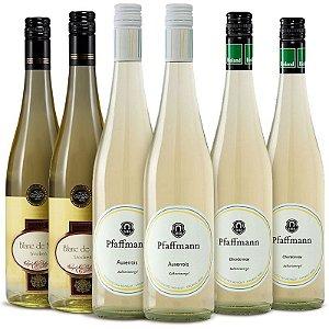 Kit Brancos raros e nobres com 6 garrafas