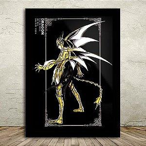 Poster com Moldura - Shiryu de Dragão
