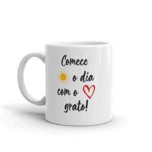 Caneca - Comece O Dia Com O Coração Grato