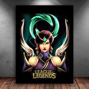 Poster com Moldura - Karma League Of Legends